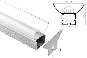 W93mm*H58mm*L1000mm Aluminum Profiles